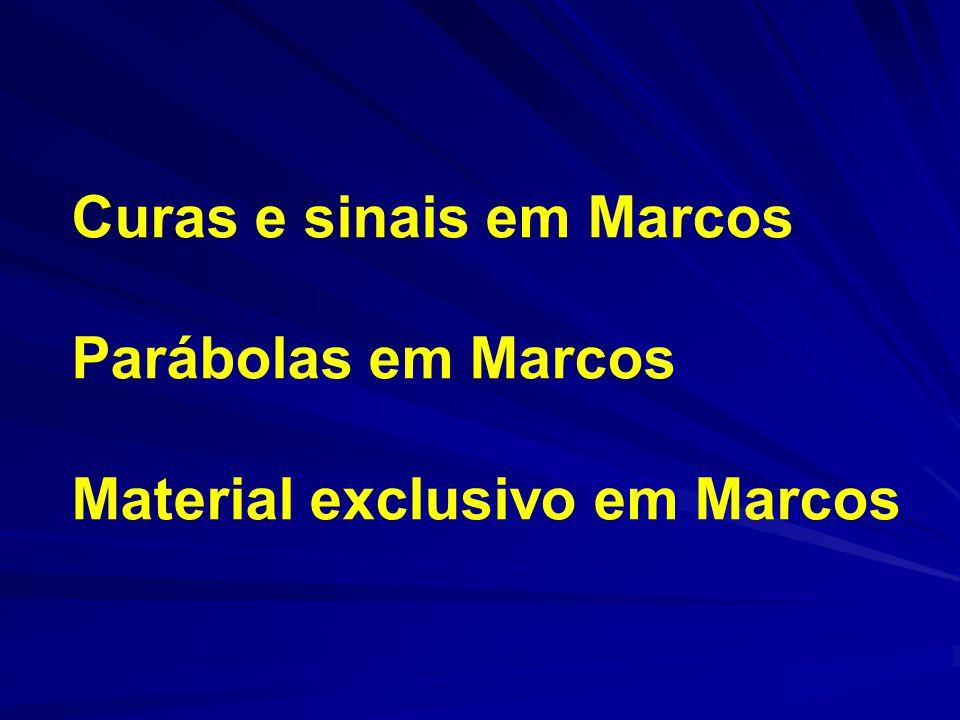 Curas e sinais em Marcos Parábolas em Marcos
