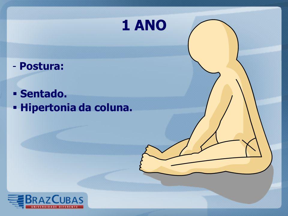1 ANO Postura: Sentado. Hipertonia da coluna.