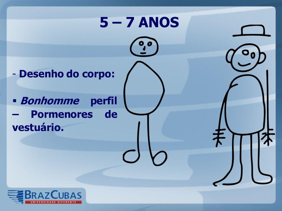 5 – 7 ANOS Desenho do corpo: