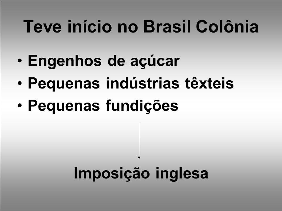 Teve início no Brasil Colônia