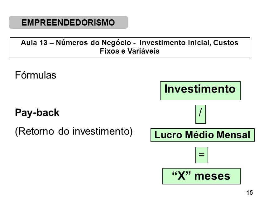 Investimento X meses