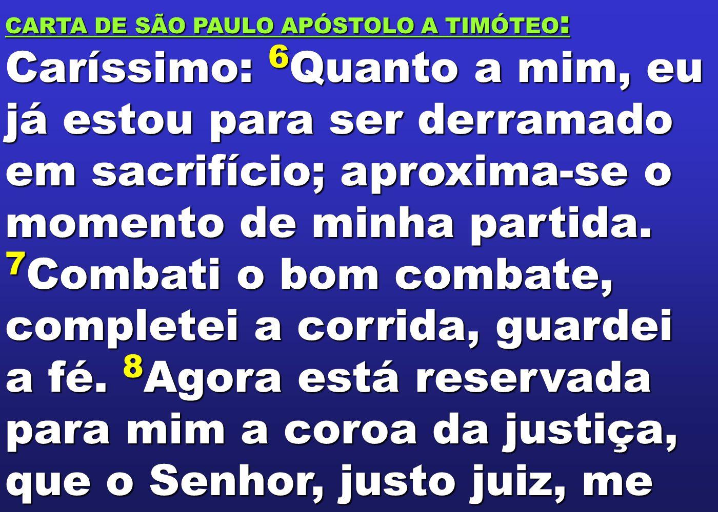 CARTA DE SÃO PAULO APÓSTOLO A TIMÓTEO: