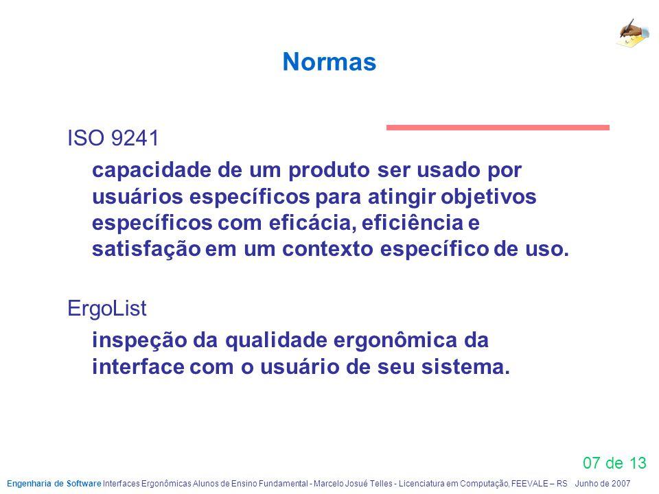 Normas ISO 9241.