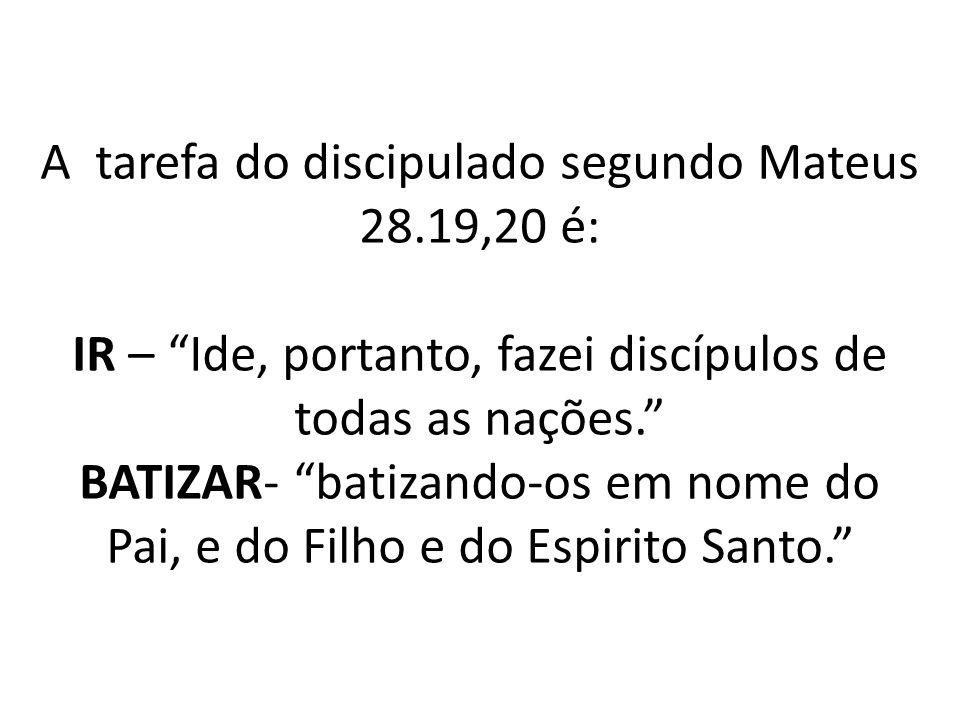 A tarefa do discipulado segundo Mateus 28