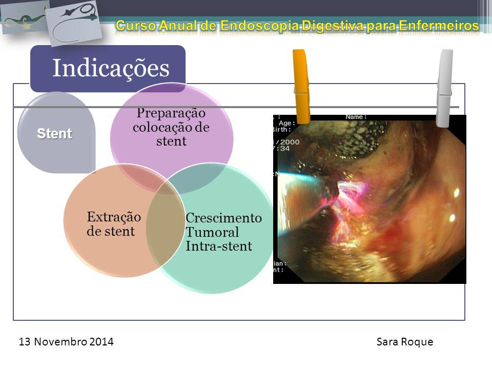 Preparação colocação de stent