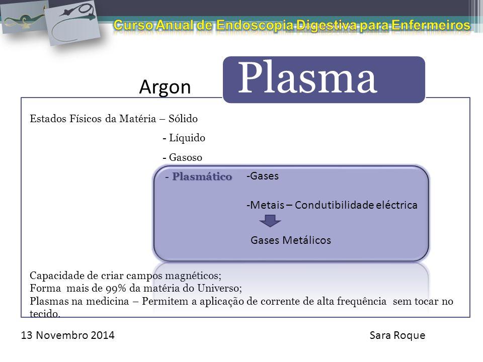 Argon Curso Anual de Endoscopia Digestiva para Enfermeiros Gases