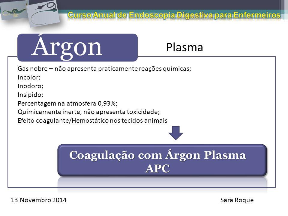 Coagulação com Árgon Plasma