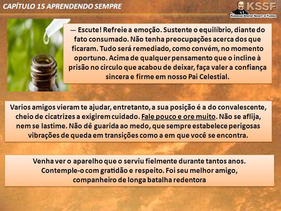 CAPÍTULO 15 APRENDENDO SEMPRE