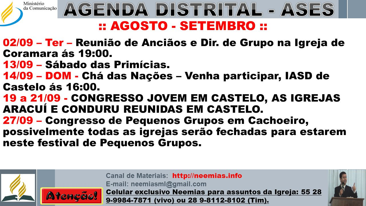 AGENDA DISTRITAL - ASES