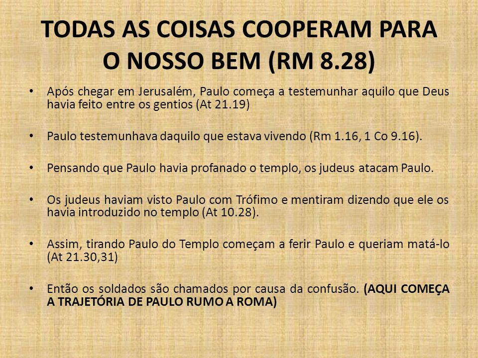 TODAS AS COISAS COOPERAM PARA O NOSSO BEM (RM 8.28)