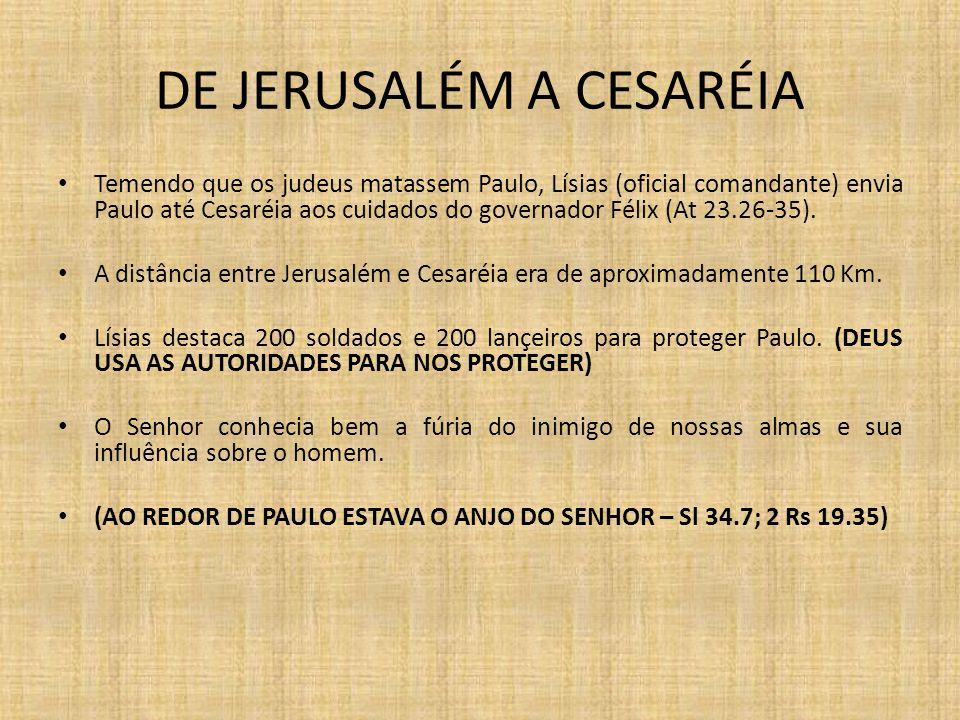 DE JERUSALÉM A CESARÉIA