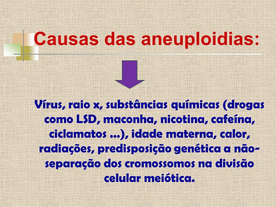 Causas das aneuploidias: