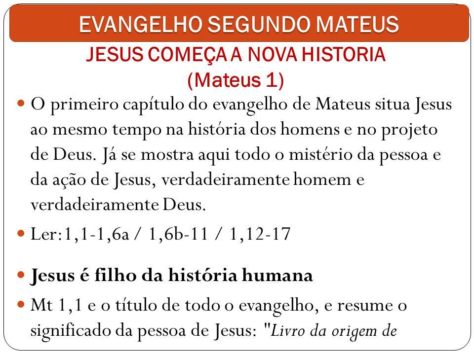JESUS COMEÇA A NOVA HISTORIA (Mateus 1)
