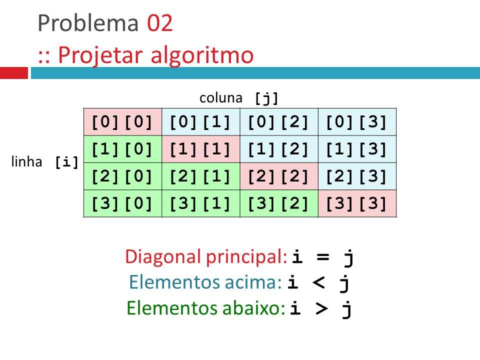 Problema 02 :: Projetar algoritmo