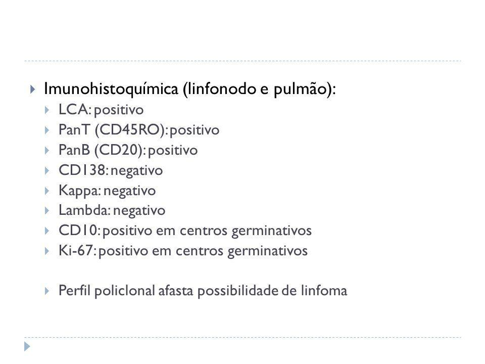 Imunohistoquímica (linfonodo e pulmão):