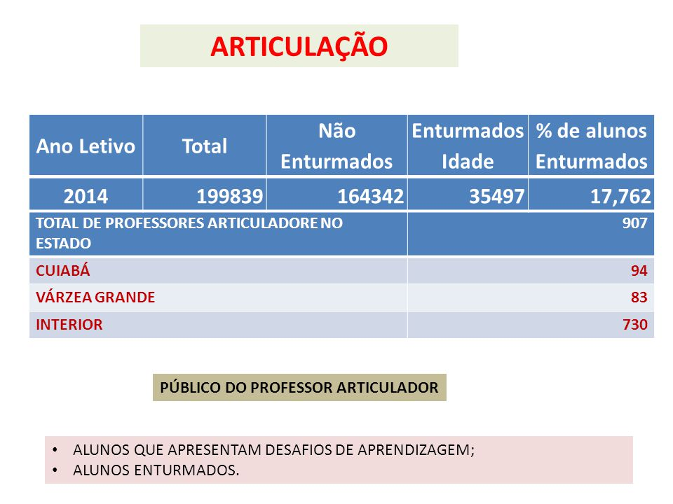 PÚBLICO DO PROFESSOR ARTICULADOR