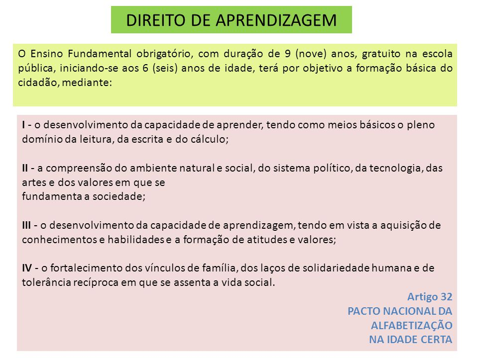 DIREITO DE APRENDIZAGEM