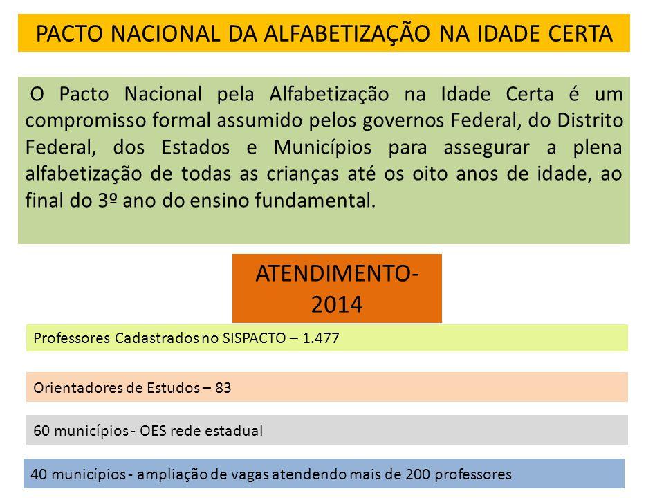 PACTO NACIONAL DA ALFABETIZAÇÃO NA IDADE CERTA