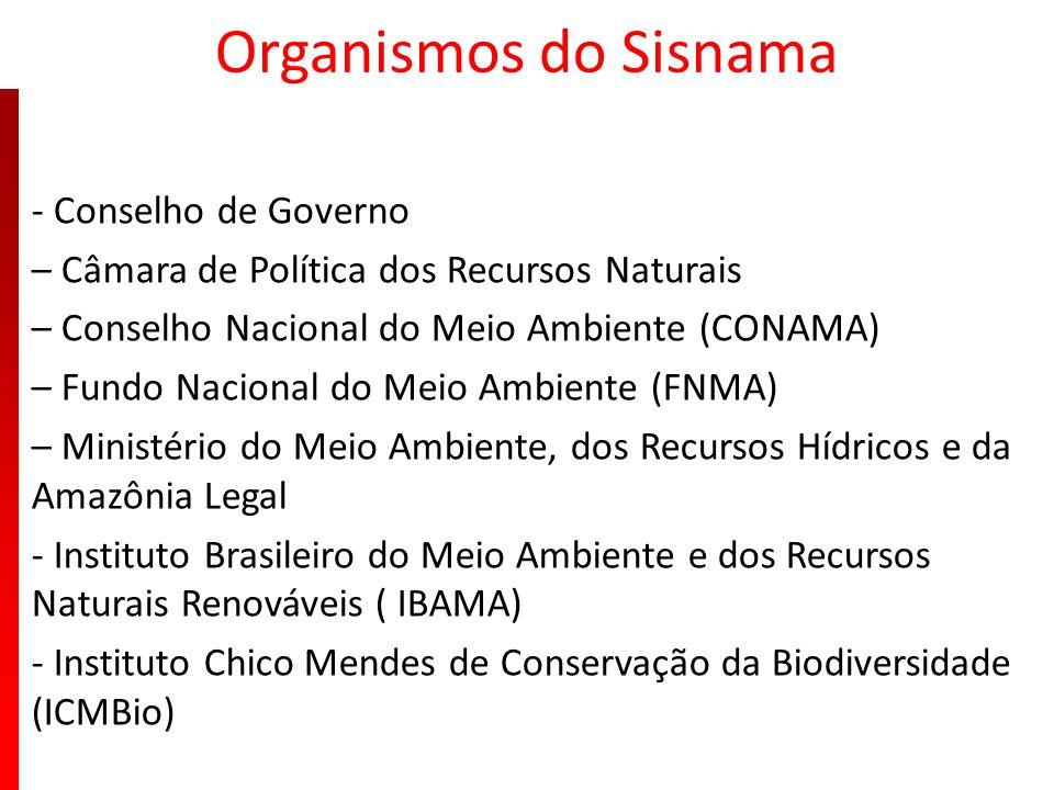 Organismos do Sisnama - Conselho de Governo