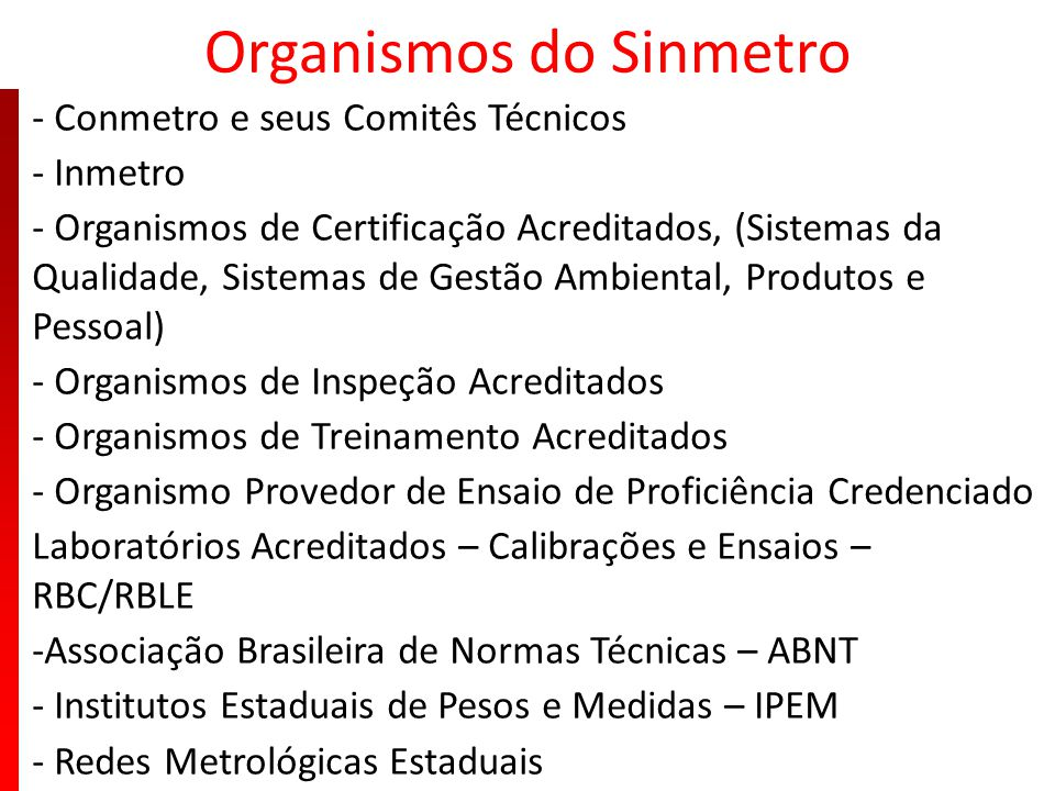 Organismos do Sinmetro