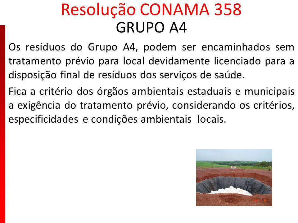 Resolução CONAMA 358 GRUPO A4