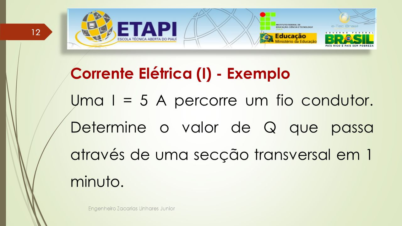 Corrente Elétrica (I) - Exemplo