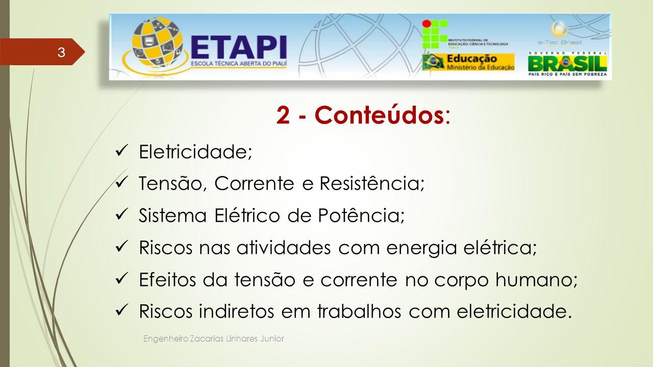 2 - Conteúdos: Eletricidade; Tensão, Corrente e Resistência;