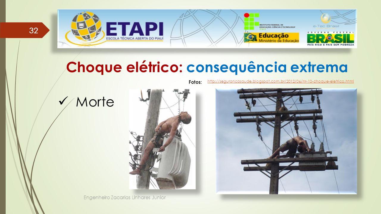Choque elétrico: consequência extrema