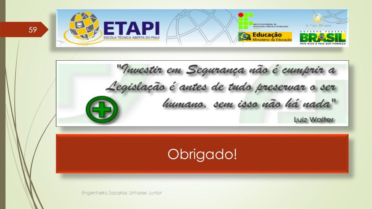 Obrigado! Engenheiro Zacarias Linhares Junior