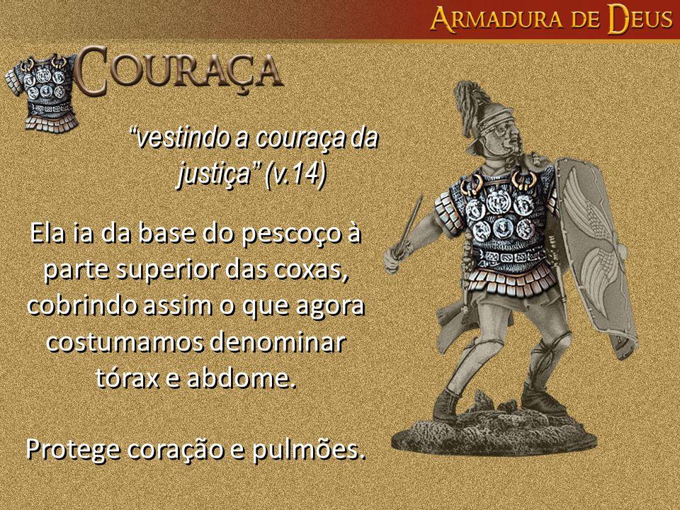 vestindo a couraça da justiça (v.14)