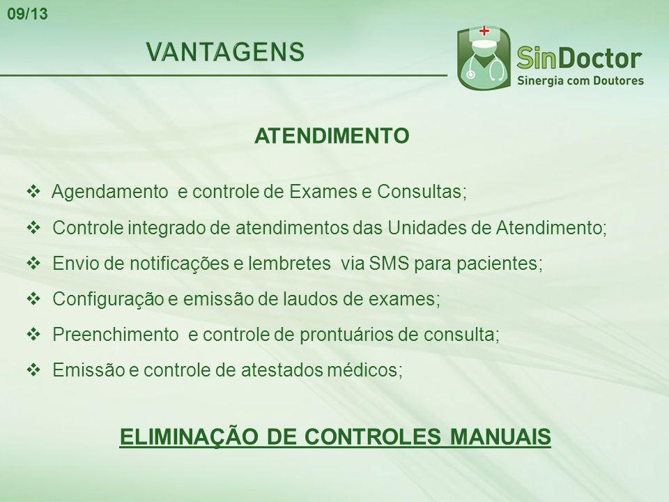 ELIMINAÇÃO DE CONTROLES MANUAIS