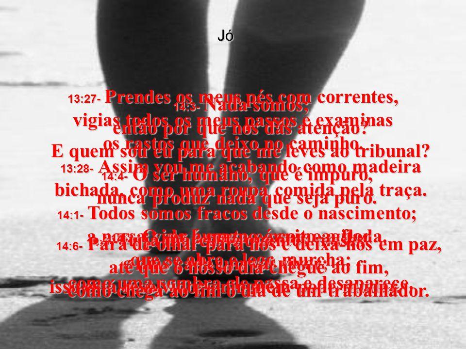 14:4- O ser humano, que é impuro, nunca produz nada que seja puro.