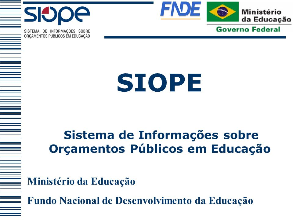 Sistema de Informações sobre Orçamentos Públicos em Educação