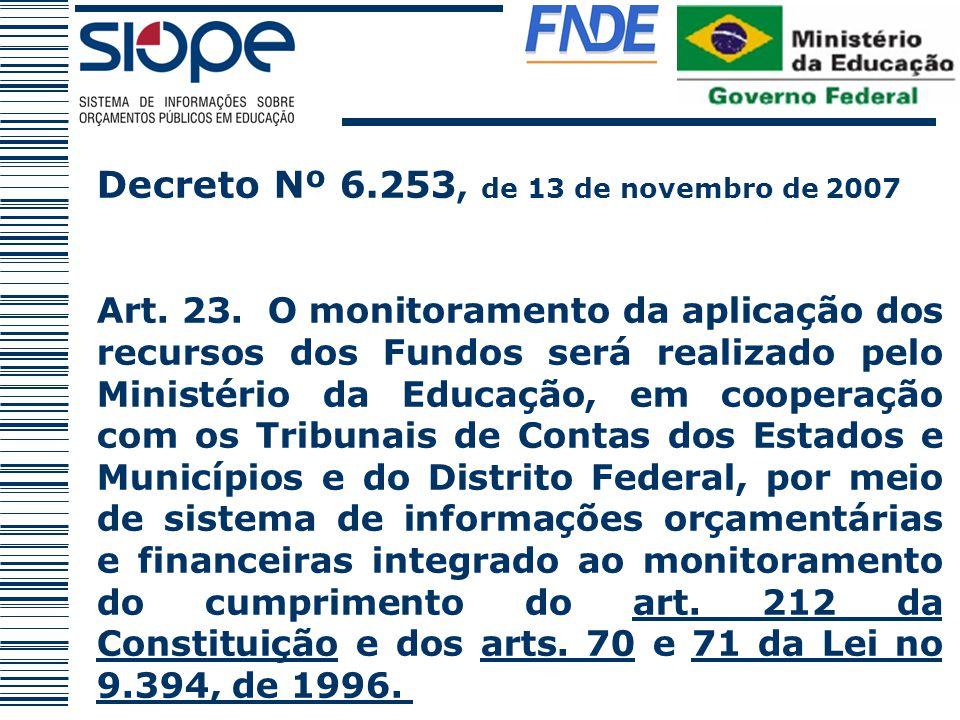 Decreto Nº 6.253, de 13 de novembro de 2007