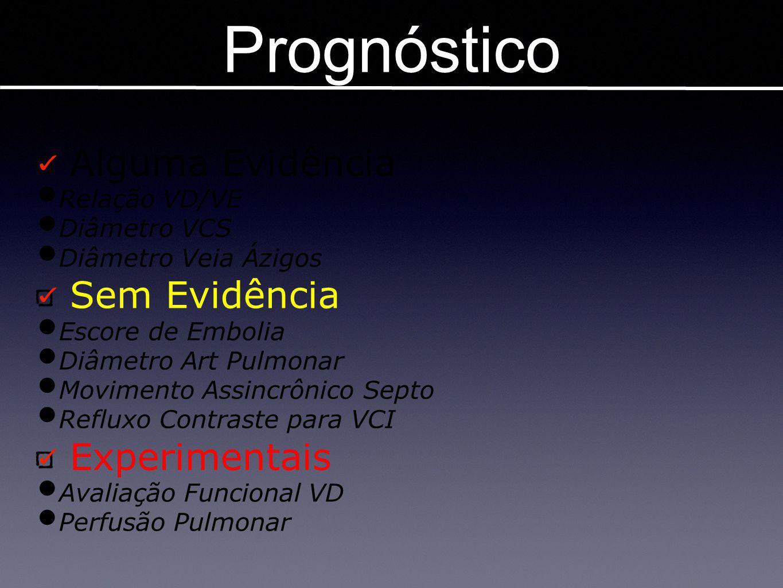 Prognóstico Alguma Evidência Sem Evidência Experimentais Relação VD/VE