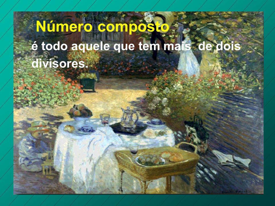 Número composto é todo aquele que tem mais de dois divisores.