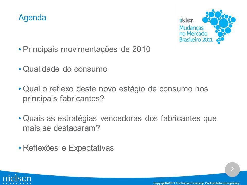 Agenda Principais movimentações de 2010. Qualidade do consumo. Qual o reflexo deste novo estágio de consumo nos principais fabricantes