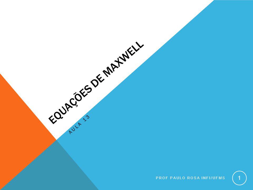 Equações de Maxwell Aula 13 Prof Paulo Rosa INFI/UFMS