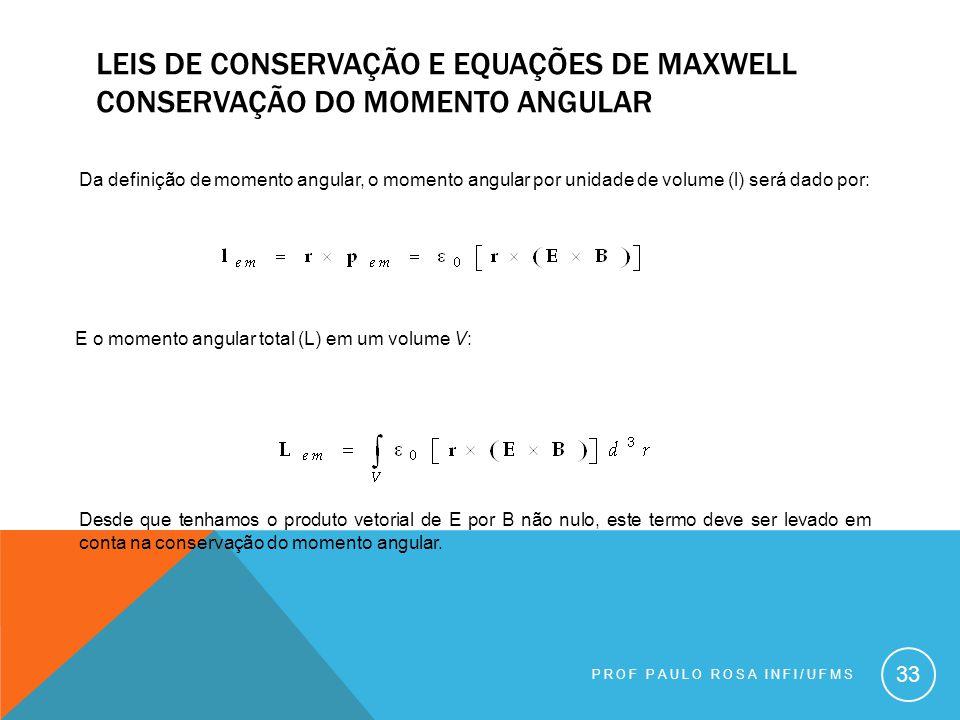 Leis de conservação e equações de maxwell conservação do momento angular