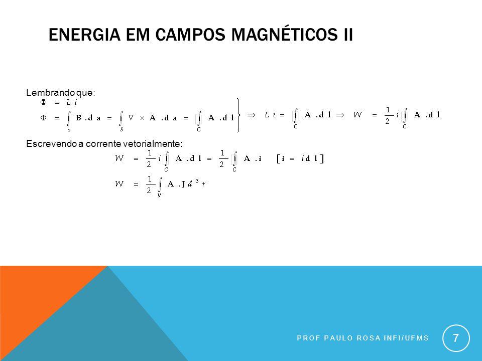 Energia em campos magnéticos ii