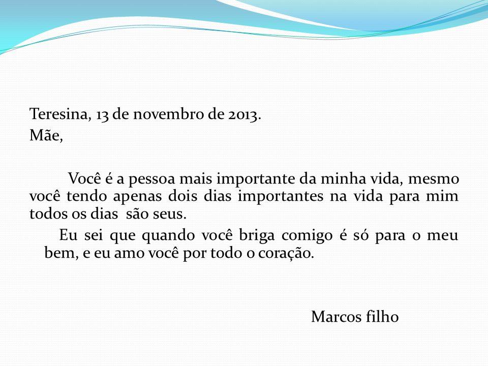 Teresina, 13 de novembro de 2013