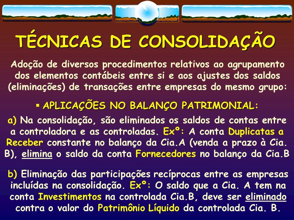 TÉCNICAS DE CONSOLIDAÇÃO