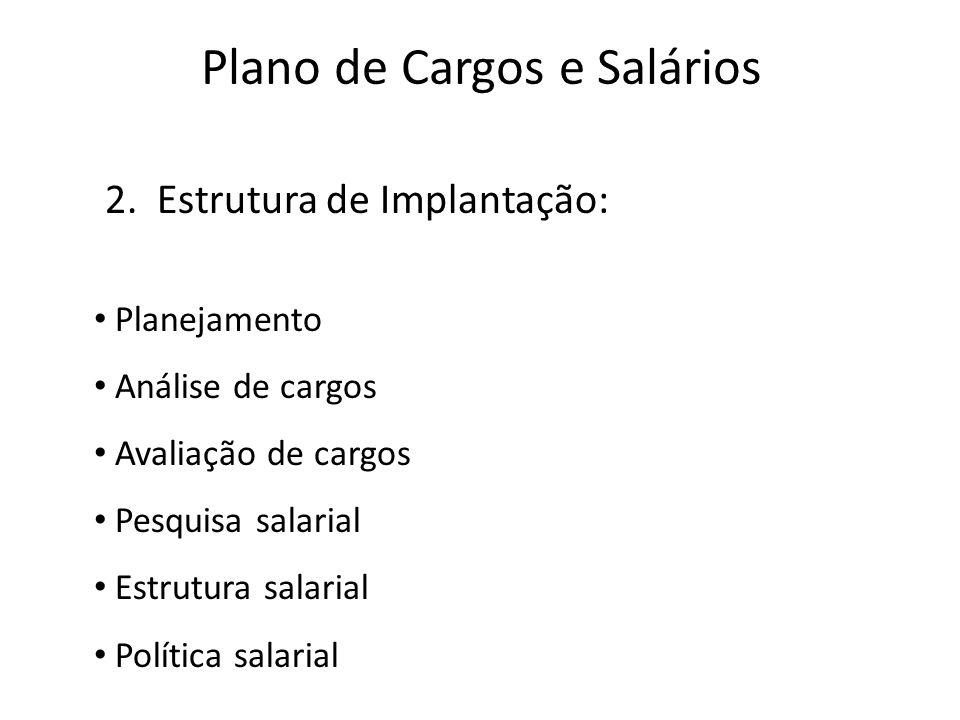 Plano de Cargos e Salários