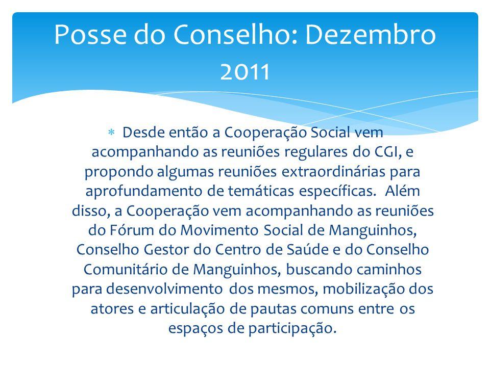 Posse do Conselho: Dezembro 2011