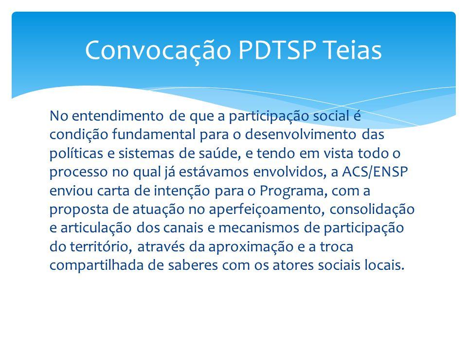 Convocação PDTSP Teias