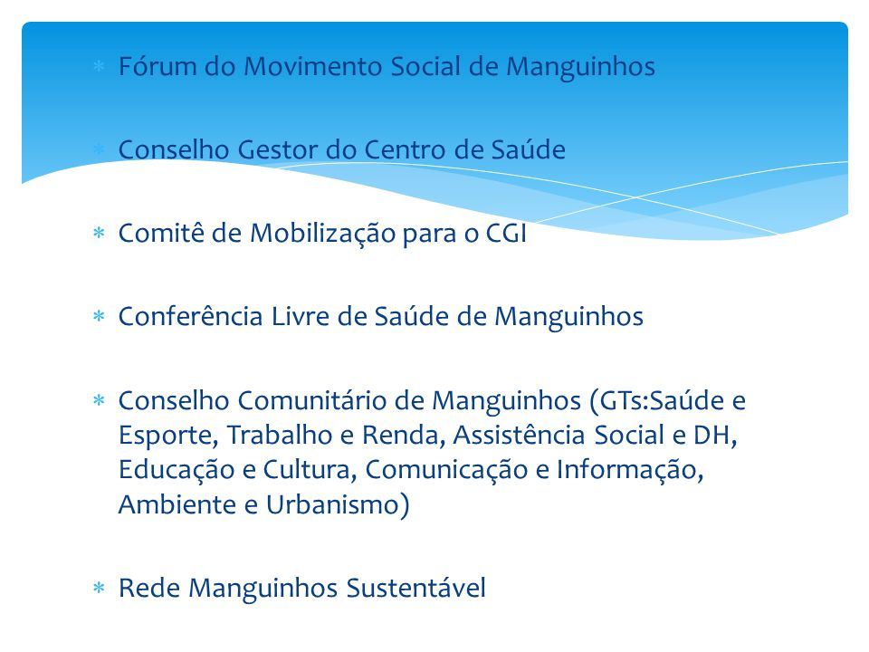 Fórum do Movimento Social de Manguinhos