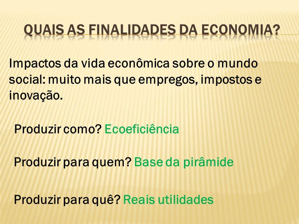 Quais as finalidades da economia