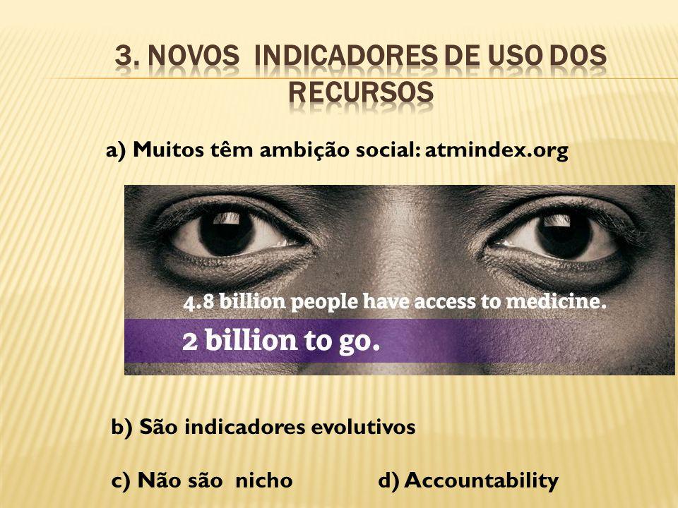 3. Novos indicadores de uso dos recursos