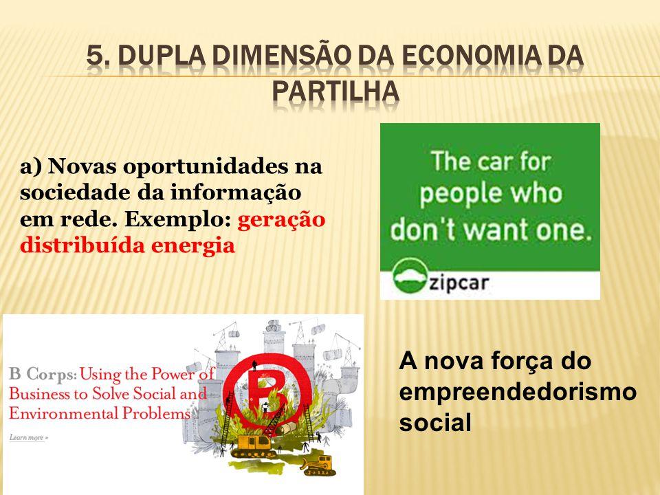 5. Dupla dimensão dA economia da partilha