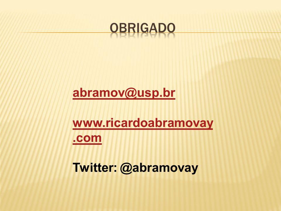 OBRIGADO abramov@usp.br www.ricardoabramovay.com Twitter: @abramovay